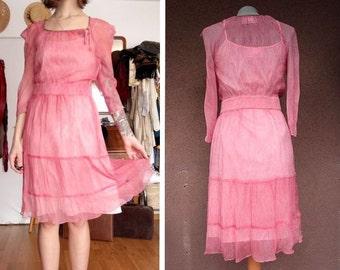 Boss Orange Pink Silk Dress - Size S #211