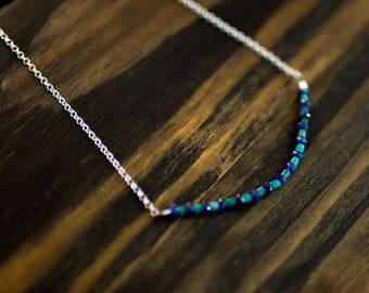 Sapphire & Turquoise Chain Necklace