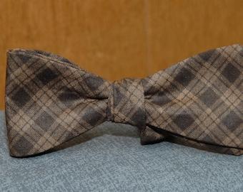Brown on Brown Argyle  Bow Tie