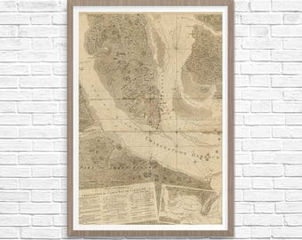 Charleston map Etsy
