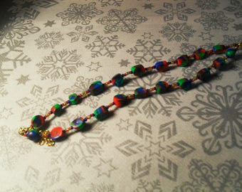 pretty unique, stylish and original bracelet blue, red and green