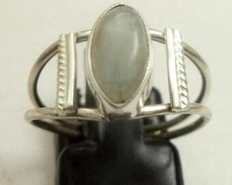 Rainbow moonstone ring, 925 Sterling silver ring, moonstone ring