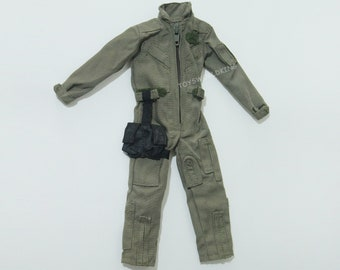 "1/6 Scale Military Green Uniform Coverall Model Toy For 12""in Action Figure Ken"