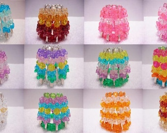 Nightlight Covers ~ rainbow night light cover tri beads safety pens bead bathroom childrens kitchen bead crafts pink blue brown white purple