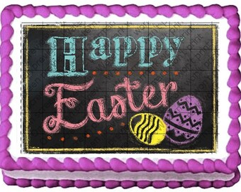 HAPPY EASTER Edible Image