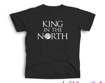 King in the North Adult Tee Shirt Inspired by Game of Thrones