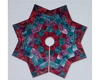 Pattern~Kringle's Kaleidoscope~Christmas Tree Skirt Pattern Mckenna Ryan