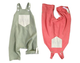 Gender Neutral Baby Clothes Hipster Baby Clothes Linen Baby Clothes Linen Baby Romper Baby Boy Clothes Baby Boy Coming Home Outfit Linen