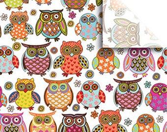 Tissue Paper, Large sheets, 20 x 30 inches.   Owlie tissue paper,