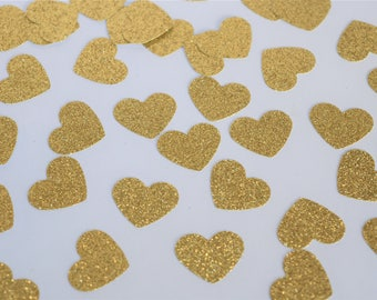 Gold Confetti Hearts, Engagement Party Decorations, Baby Shower Decorations, Wedding Table Decorations, Bridal Shower Decorations, Gold