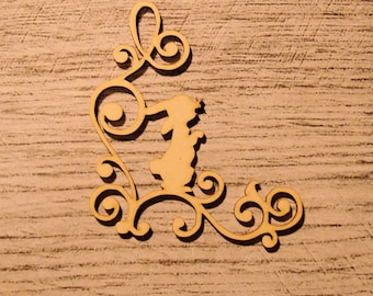Engraved rabbit 1206 embellishment wooden creations