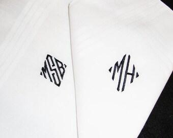 Monogrammed Handkerchief - Thread Born Memories