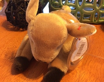 TY Beanie Baby Whisper Vintage Stuffed Plush Deer