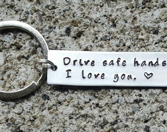 Trucker husband, Trucker gift, husband gift, drive safe, drive safe keychain, stocking stuffer, Trucker, fathers day, boyfriend gift, dad