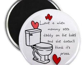 MOMMY DADDY LOVE Valentine's Day 2.25 Fridge Magnet
