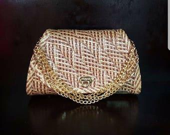 "CleolaV: Elegant Straw Handbag ""Isabelle"""