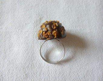 Ring adjustable hazelnut chocolate candy