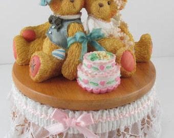 "Cherished Teddies Musical Love Bears All Things, Bride and Groom Musical #699349 Tune ""Mendelssohm Wedding"""