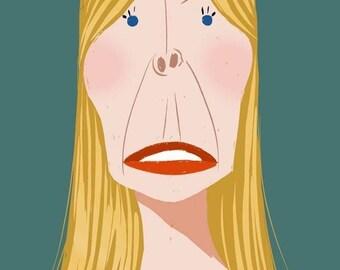Joni Mitchell, 11x17 print