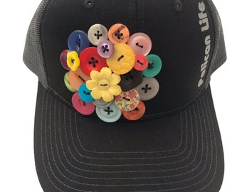 Women's Trucker Hat with buttons