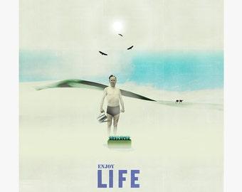 Enjoy life 6 - collage - mixed media - vintage -  29,7 x 29,7 cm