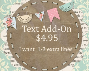 Text ADD ON 1-3 lines