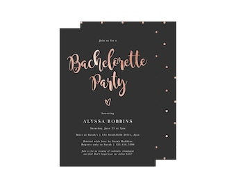 Bachelorette party invitation Etsy
