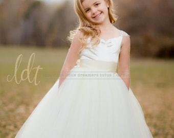 NEW! The Giselle Dress in Ivory - Flower Girl Tutu Dress