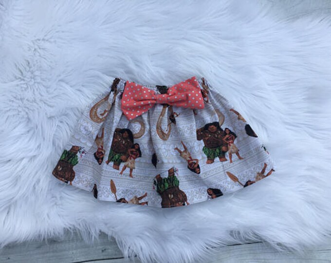 Moana and Friends Bowknot Skirt Baby Girls Toddlers Birthday Photo Vacation Princess