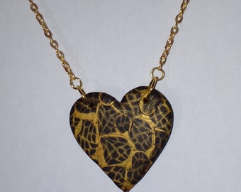 """Necklace with pendant """"Goldherz""""-creation Sonia"""