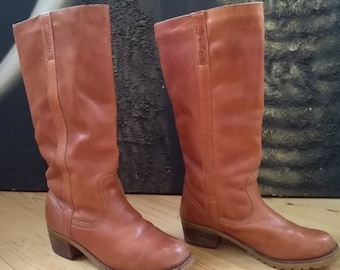 Women's GAUCHO Vermont Bohan  - brown leather boots- size 37 eur, 6.5 us, 4 uk.