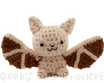Pallid Bat Amigurumi Crochet Plush Toy Stuffed Animal