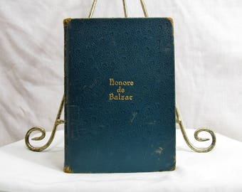 The Complete Novelettes of Honore de Balzac In One Volume 1926 Hardcover Walter Black (pub) First Edition Leather Book Green