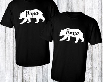 Nana and Papa shirt set - New grandparents gift idea - Gift for grandparents - cute couple gift idea - grandparents anniversary