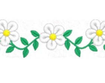 Daisy Flower Embroidery Design, 4x4 Hoop MULTIPLE FORMATS Download