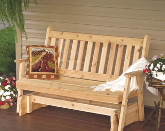 Red Cedar Traditional English 5ft. Porch Glider