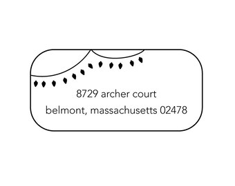 string of lights rubber address stamp