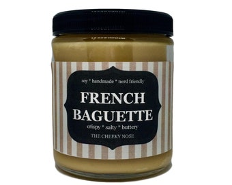 French Baguette Candle, Bread Candle, Mothers Day Gift, Candle, Gift For Mom, Baked Bread Candle, Scented Candle, Soy Candle, Vegan Candle