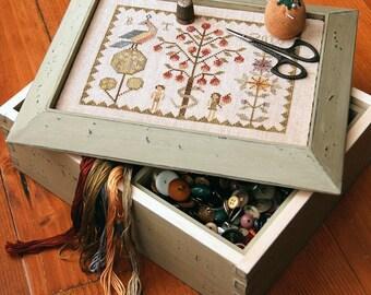 In the Garden : Cross Stitch Pattern by Heartstring Samplery