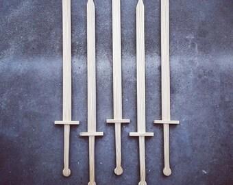 """Medieval wooden sword 35"""" prop"""