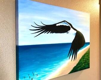 Eagle Seascape painting