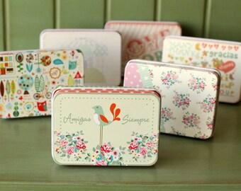 Cute Storage Box/ Tin Box/ Make Up case/ Candy Box/ Case/ Wedding Gift