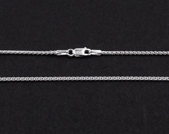 "Sterling Silver Spiga Chain 16"" 18"", 20"", 22"" & 24"" 1.5mm Wide 
