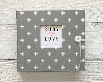 BABY BOOK | Gray Mini Swiss Cross Album