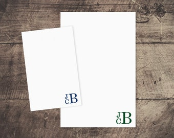 Personalized Notepad -- Stacked Monogram // Men's Stationery // Custom Notepad // Monogram Notepad // Coworker Gift // Groomsmen Gift