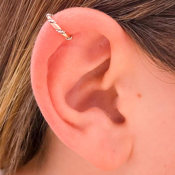 Silver Ear Cuff Rose Gold And Sterling Silver Ear Cuff 14k