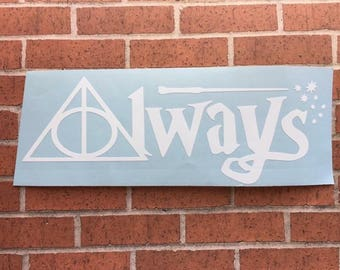 Harry Potter themed auto decals, vinyl decals, vinyl stickers, car decals, laptop decal