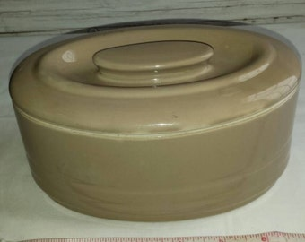 "Vintage 1940s Hall China Co.  Refrigerator Dish. Made exclusively for Westinghouse. Clean Perfect No Chips or Cracks. Color Tan. 7""×4""×4"""