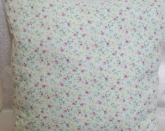 scatter cushion, scatter cushion with calico cream back. pale blue with tiny flowers .country cottage style, pillow cases