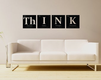 THINK Vinyl wall decal- Periodic table of elements